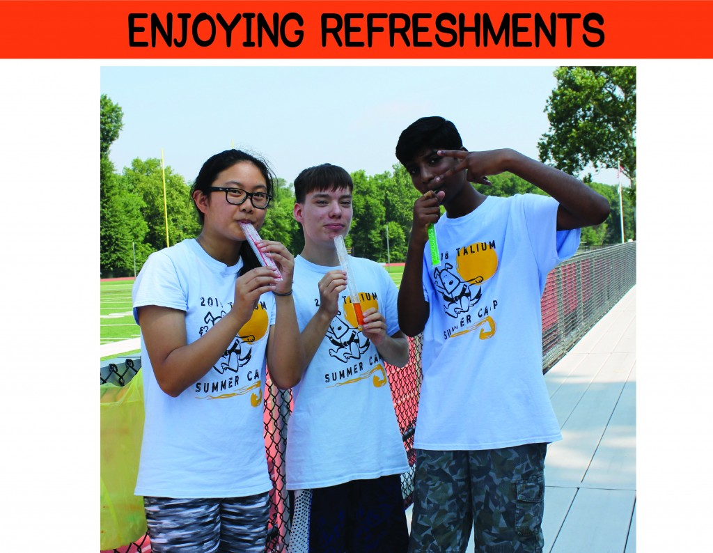 3 ENJOYING REFRESHMENTS