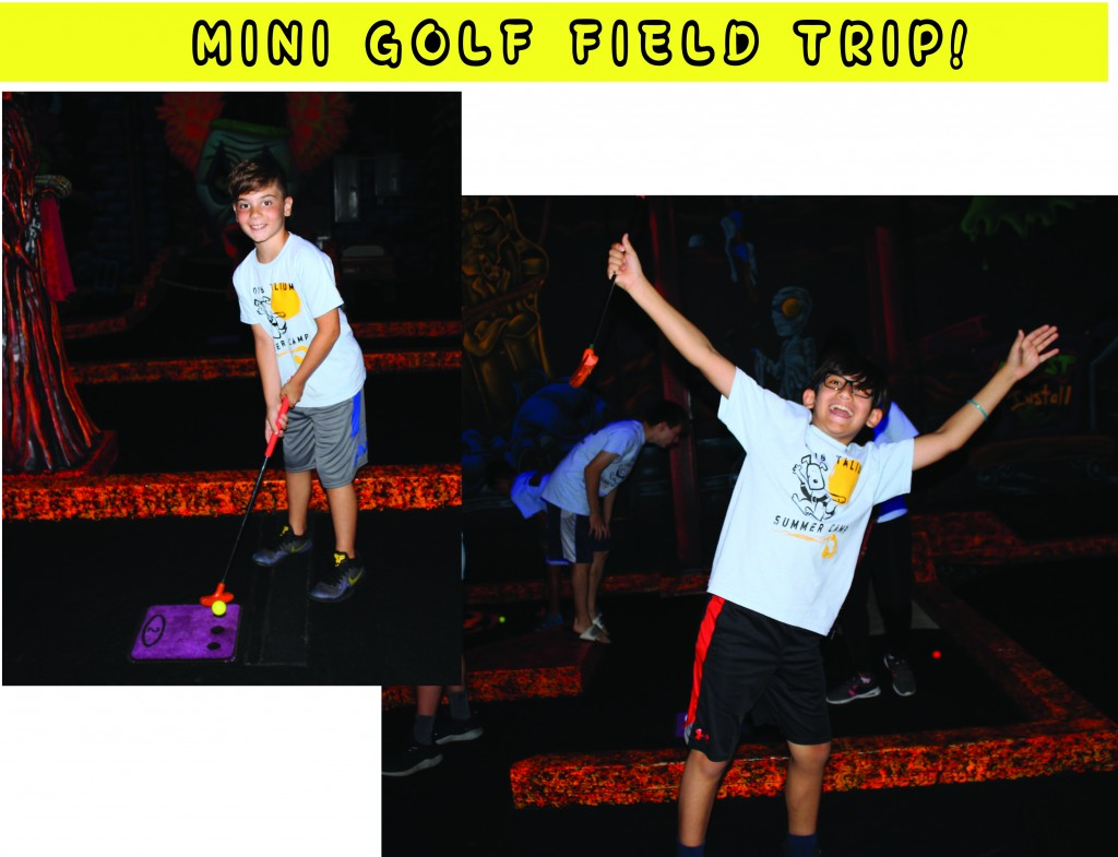 4 MINI GOLF FIELD TRIP