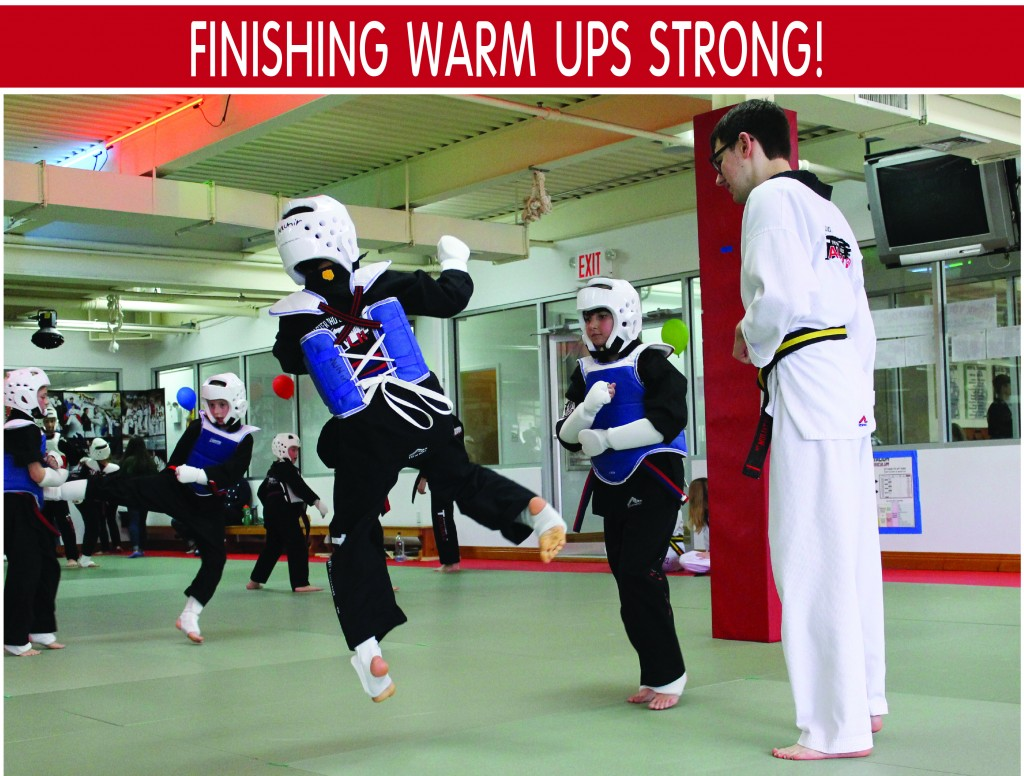 3 FINISHING WARM UPS STRONG TAEKWONDO