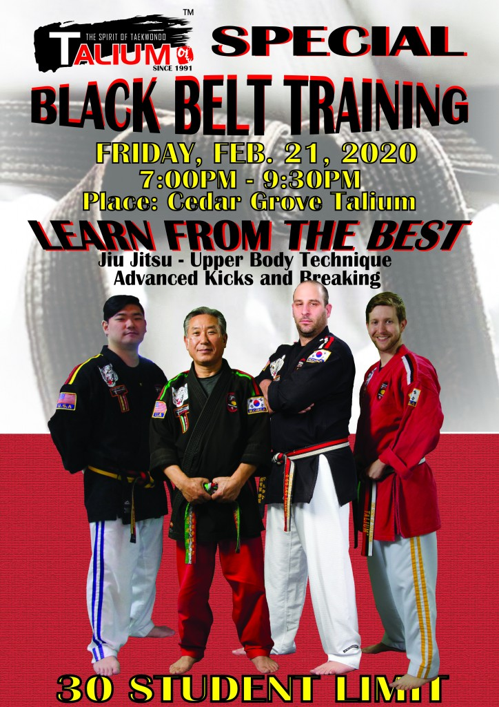 BLACK BELT TRAINING POSTER 2020